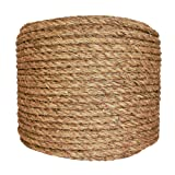 SGT KNOTS Manila Rope | Size 1/4-3 inch | Length 10-1200 ft | Tan Rope/Brown Rope - Twisted Manila 3 Strand Natural Fiber Cord | Ropes for Indoor and Outdoor Use | 1/2 inch x 400 feet (Tamaño: 1/2 in x 400 ft)