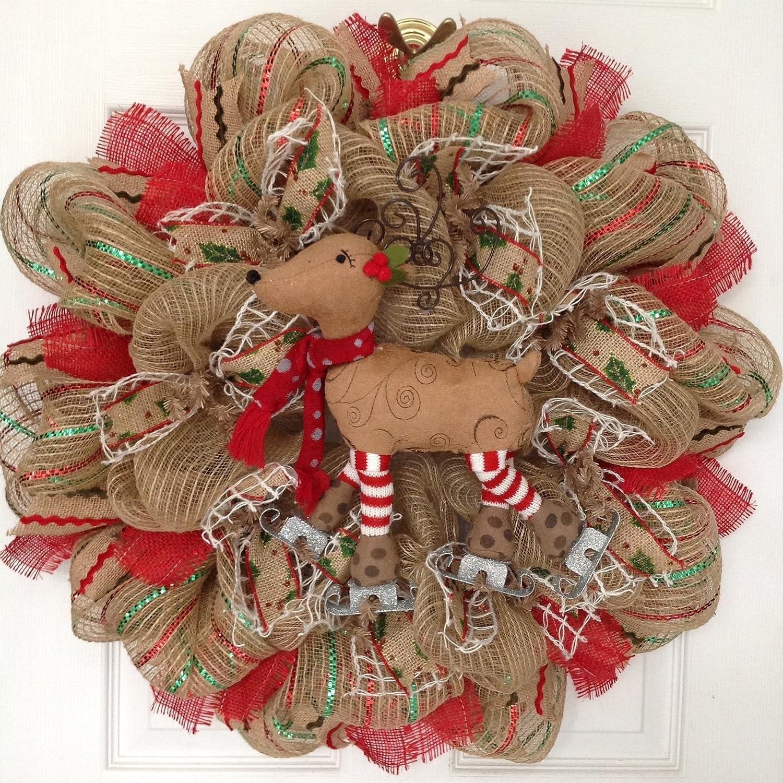 Reindeer Mesh Wreaths | Christmas Wikii