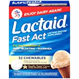 Lactaid Fast Act Lactose Intolerance Relief, Lactase Chewables, Vanilla Twist flavored, 32 single-dose pouches