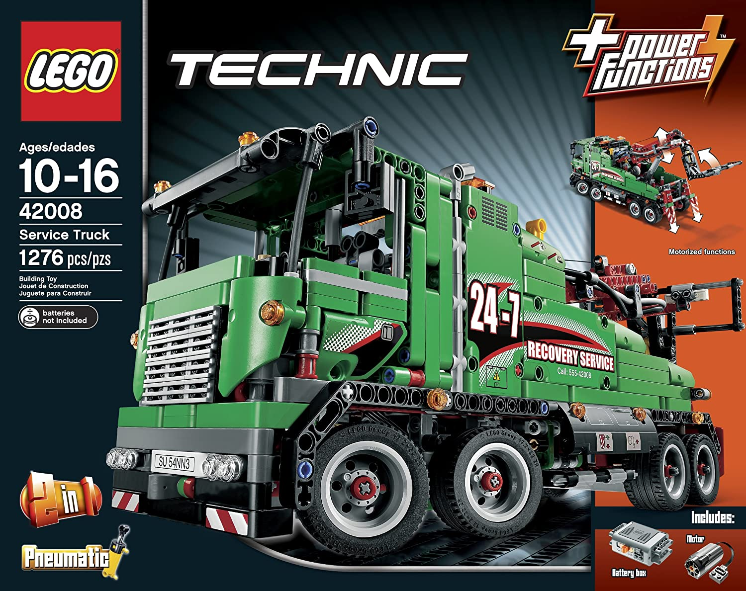 lego technic building instructions service truck 42008. Black Bedroom Furniture Sets. Home Design Ideas