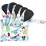 WegreecoBambooReusableSanitaryPads(NewPattern)-ClothSanitaryPads,ClothPads,ReusableMenstrualPads-5PackPads,1Cloth Mini Wet BagBonus (Medium,Dynamic) (Color: Dynamic, Tamaño: Medium)