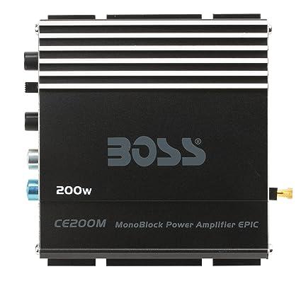 Boss Audio CE200M Chaos Epic 200 watts monobloc Classe A/B 1 canal 2 à 8 ohms Amplificateur Stable