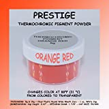 Prestige THERMOCHROMIC Pigment That Changes Color at 88°F (31 °C) from Colored to Transparent (Colored Below The Temperature, Transparent Above) Perfect for Color Changing Slime! (5g, Orange RED) (Color: ORANGE RED, Tamaño: 5g)
