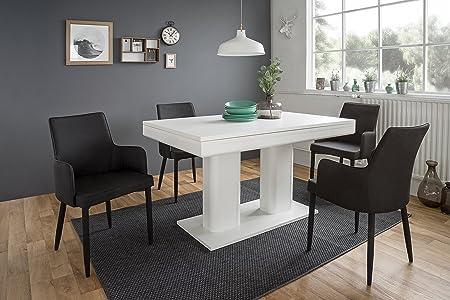 """'""""Nuremberg tiroir Table de 140–220x 79,5x 90cm blanc"""