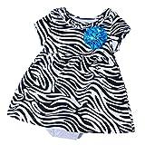 Baby Boutique® Girls' Sparkle Zebra Dress, Black/White, Sizes: Newborn to 5T
