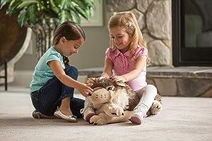 Wild Republic Jumbo Wolf Plush, Giant Stuffed Animal, Plush Toy, Gifts for Kids, 30 Inches (Tamaño: 30)
