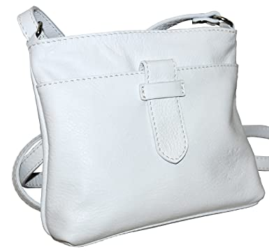 Small White Leather Shoulder Bag 79