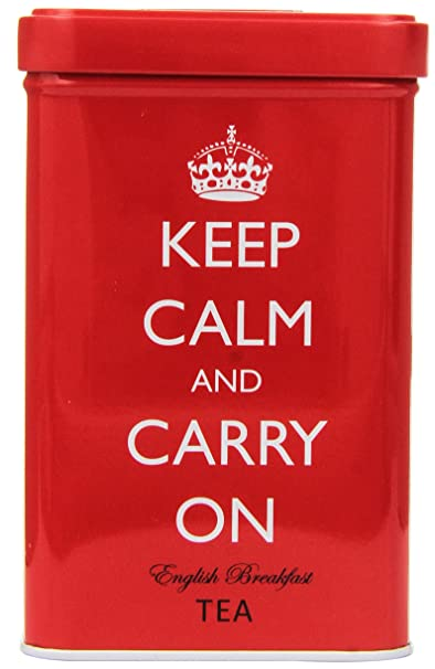 Keep Calm and Carry On Tea Tin, English Breakfast Tea (40 Bags)