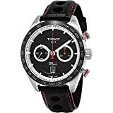 Tissot Men's PRS 516 Stainless Steel Swiss-Automatic Watch with Leather Calfskin Strap, Black, 22 (Model: T1004271605100 (Color: Black)