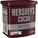 HERSHEY'S Cocoa, 100% Natural Unsweetened Cacao, 8 Ounce Can (Pack of 6) (Tamaño: 8oz)