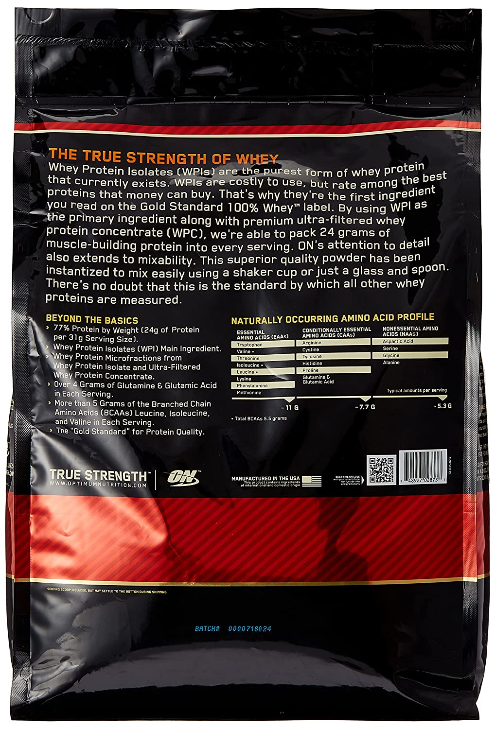 ON Whey Gold Standard - 10 lb Delicious Strawberry