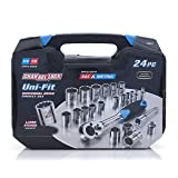 Channellock 38054 Uni-Fit Socket Set, 24-Piece