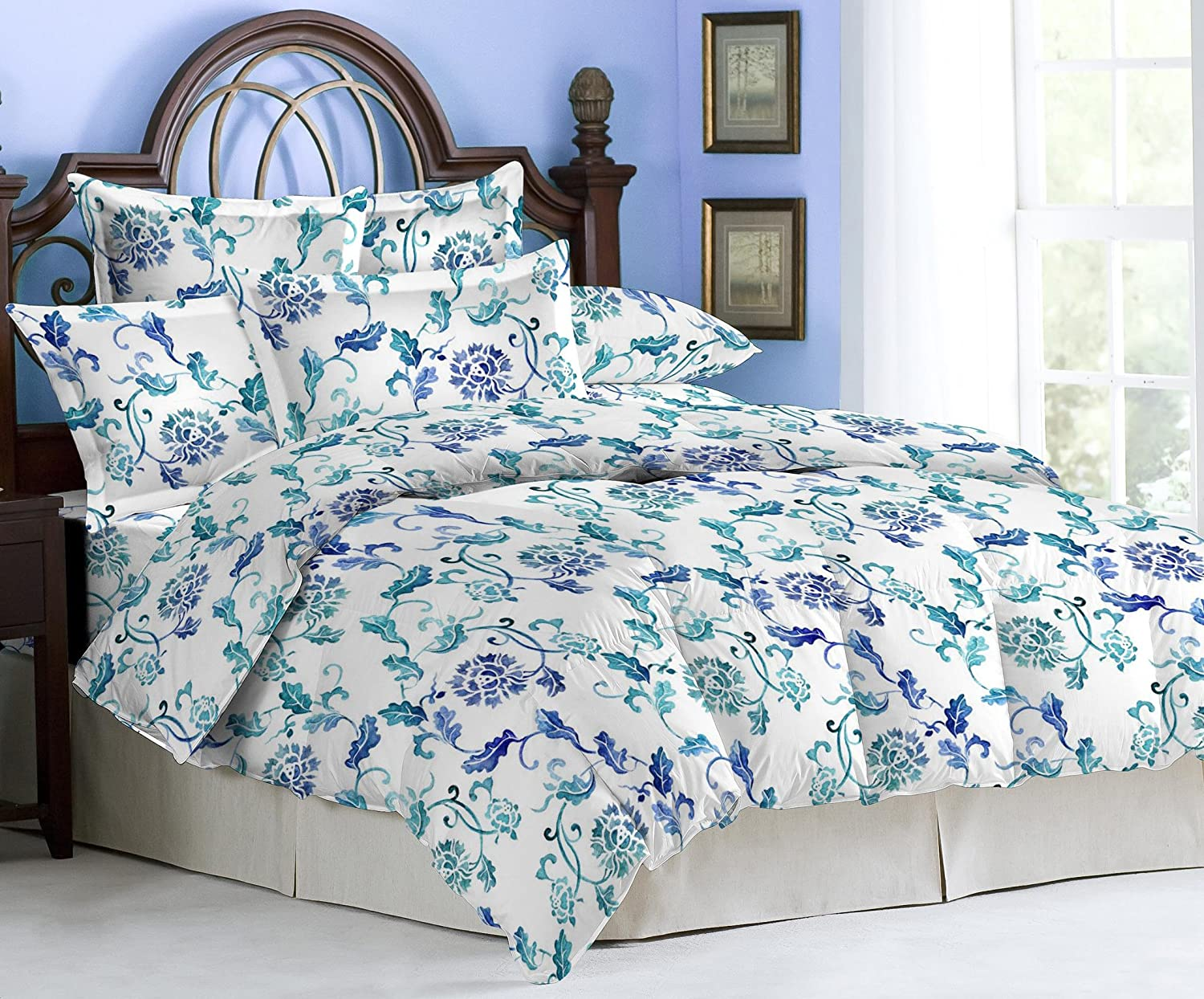 Marvelous Bombay Dyeing Coral Vine Double Bed Linen Set Worth Rs. 1999 At Rs. 999