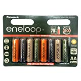 8 Pack AA Multi Use/Color Panasonic Eneloop Rechargeable Ni-HM batteries - Eneloop tones Expedition (Color: AA 8 Pack)
