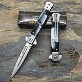 TAC-FORCE Black Punisher Skull Milanos Spring Assisted Folding Pocket Knife