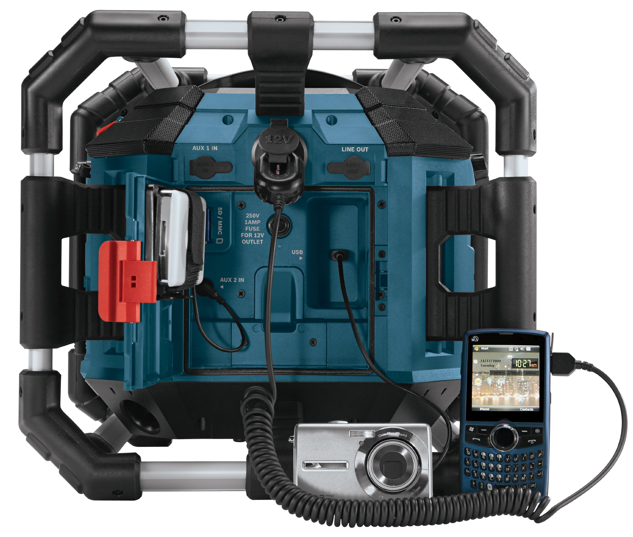 galleon bosch pb360s 18 volt lithium ion power box jobsite radio and charger. Black Bedroom Furniture Sets. Home Design Ideas