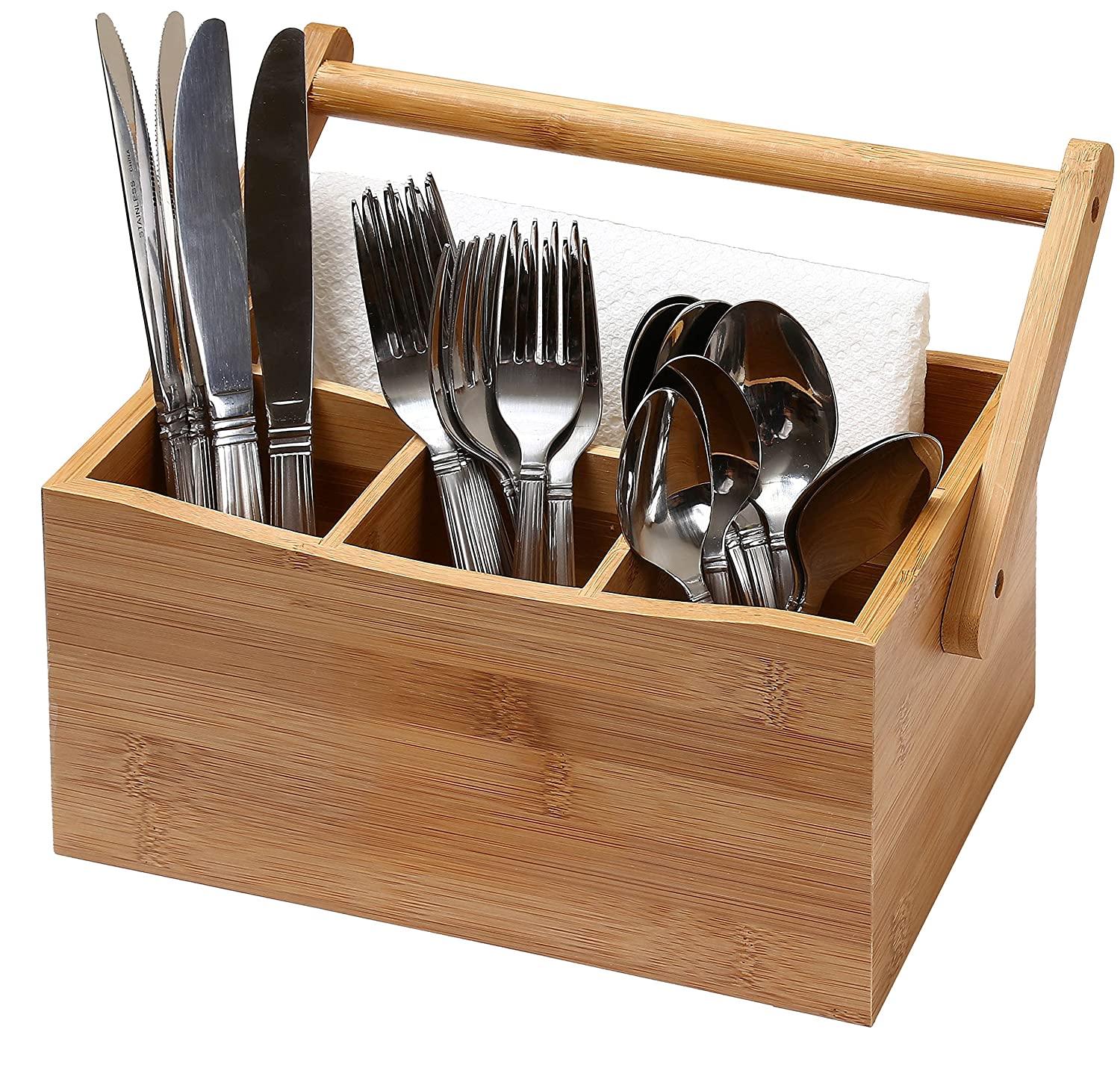 Kitchen Utensil Organizer Flatware Storage Cutlery Caddy