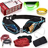 Codra Kinetics 8-in-1 Running Belt & Accessories Pack, 10K Gear Includes 1X LED Armband, 1X Wrist Wallet, 1X ID Wristband, 2X Reflective Shoelaces, 2X Tube Bandana. for The Gym, Runners, Women & Men (Color: Black, Tamaño: S-XL)