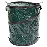 Collapsible Trash Can- Pop Up 33 Gallon Trashcan for Garbage With Zippered Lid By Wakeman Outdoors -Ideal for Camping Recycling and More (Green)