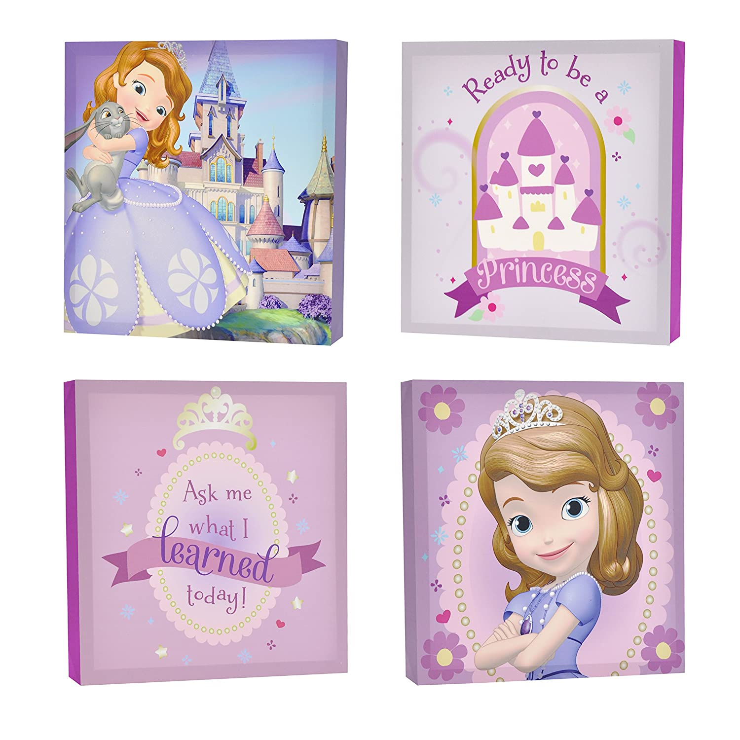 Disney Sofia The First Canvas Wall Art (4-Piece) игровой набор disney sofia the first дворец bdk61