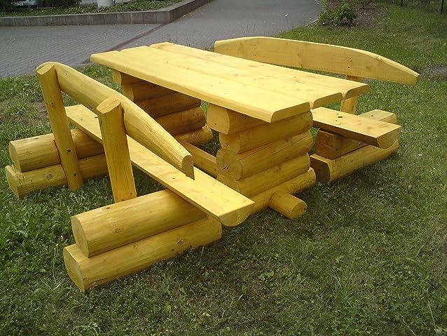Set sedile rustica in legno di conifera/Artigianato legno/2m di lunghezza/sedile capacità per 8persone/lasiertes qualità tedesco di colore–Pino, larice, o thik/ogni Salottino è un pezzo unico