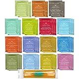 By The Cup Honey Stix and Tea Bag Gift Set - Harney & Sons Tea Bag Sampler - 40 Count Assortment