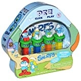 Pez Candy Smurfs Click and Play Pez Dispensers and Candy Rolls Gift Set and Party Favor (Gift Set) (Color: Blue, Tamaño: Gift Set)