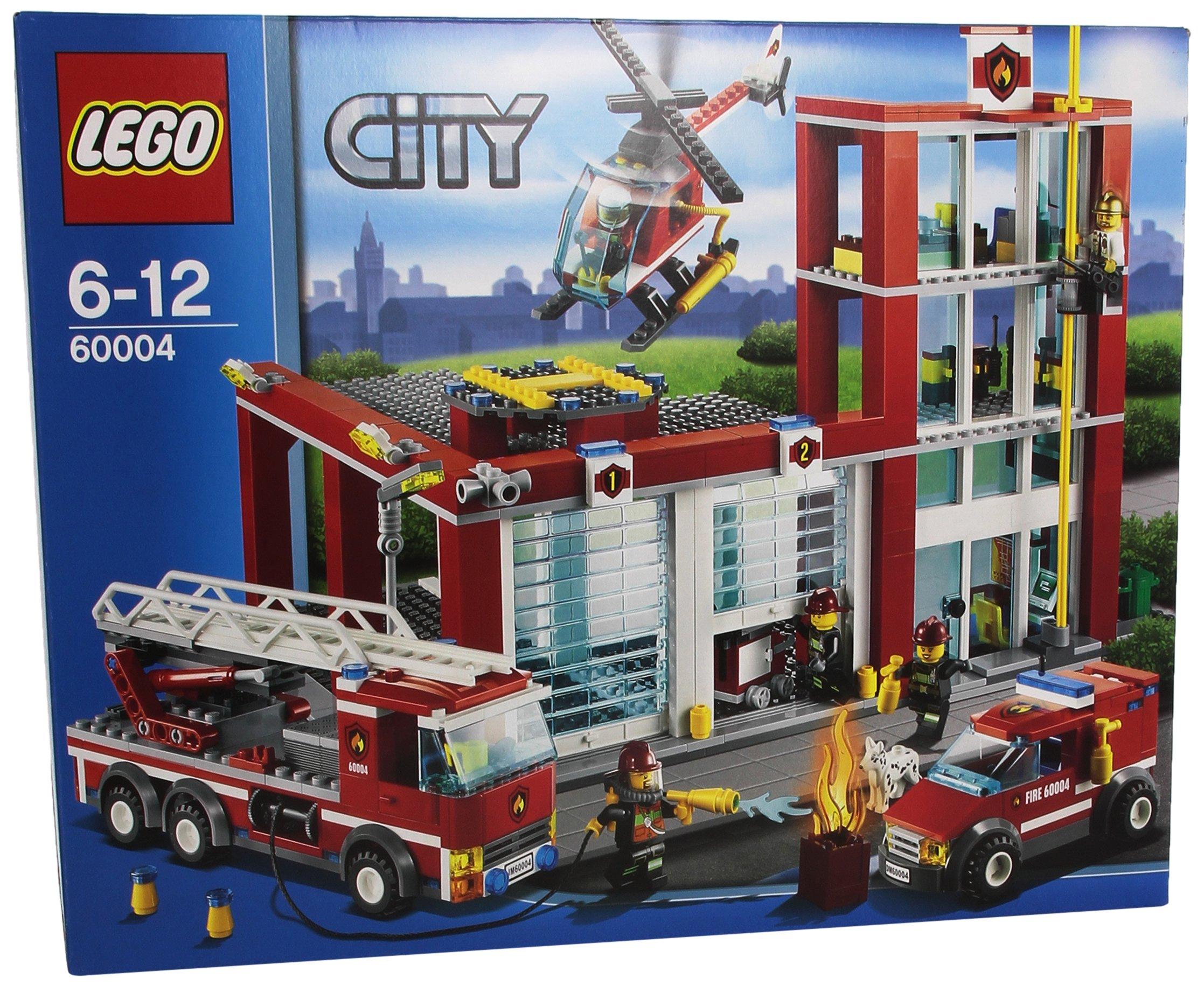 lego city 60004 fire station ebay. Black Bedroom Furniture Sets. Home Design Ideas