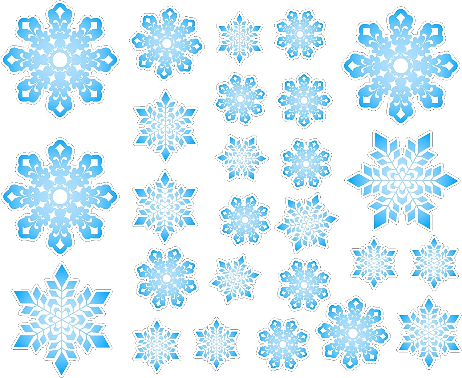 christmas snowflakes repositional and removable wall decal