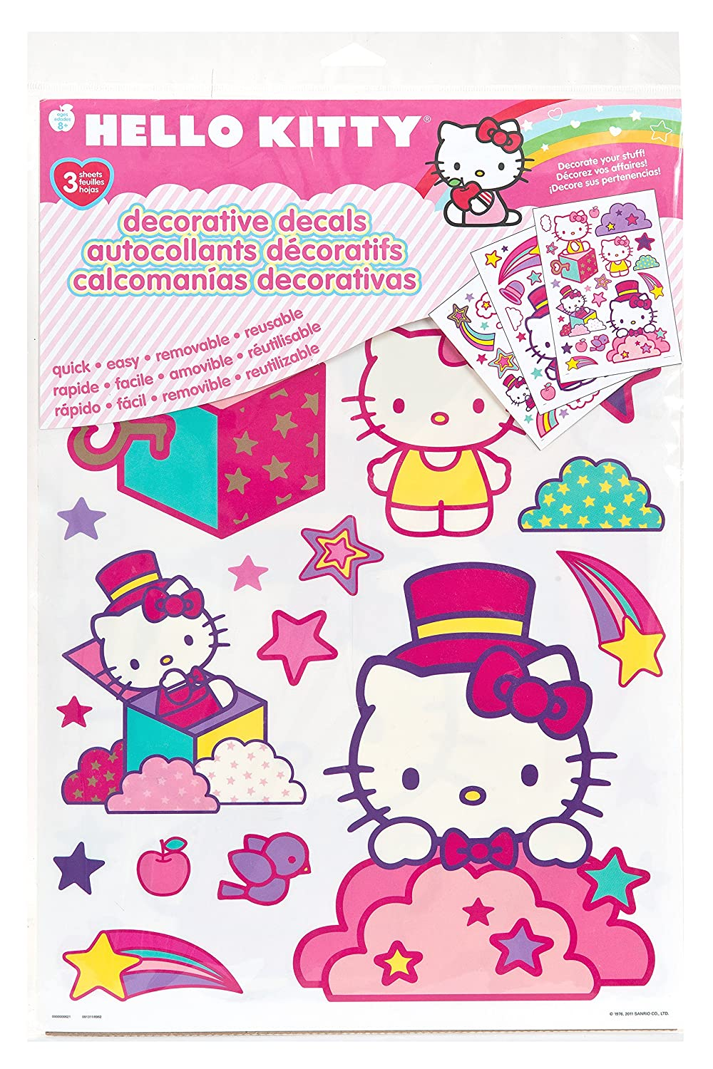 Hello Kitty Peel And Stick Wall Decals Quick,Easy,Removable,Reusable filorga sleep and peel в аптеке