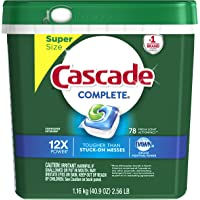 Cascade Complete ActionPacs Dishwasher Detergent 78 Count (Fresh Scent)