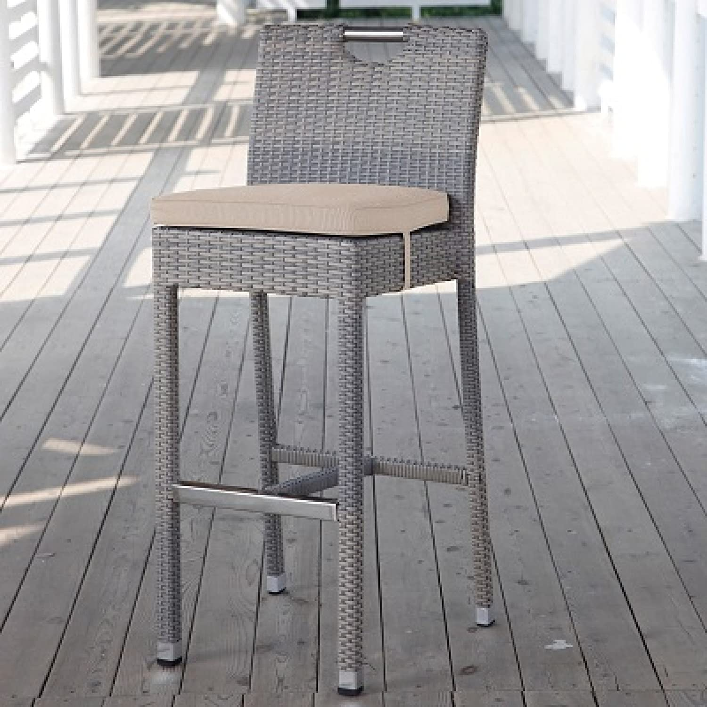 Hartman Montego Barhocker Stuhl mit Kissen Polyrattan taupe/Edelstahl 22939933 günstig kaufen