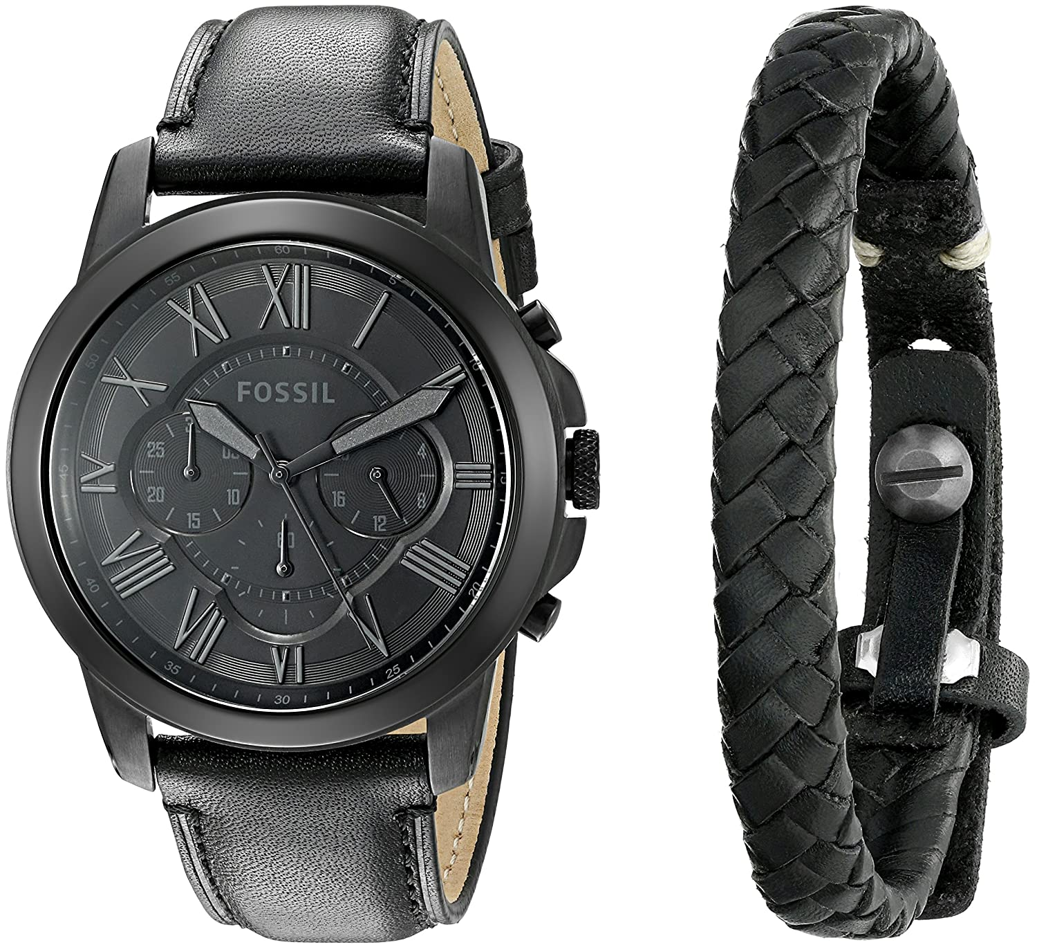 buy fossil end of season daily analog black dial men s watch and buy fossil end of season daily analog black dial men s watch and wristband combo fs5147set online at low prices in amazon in