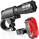 TeamObsidian Bike Light Set - Super Bright LED Lights for Your Bicycle - Easy to Mount Headlight and Taillight with Quick Release System - Best Front and Rear Cycle Lighting - Fits All Bikes (Color: 1 PACK, Tamaño: 200 Lumens)