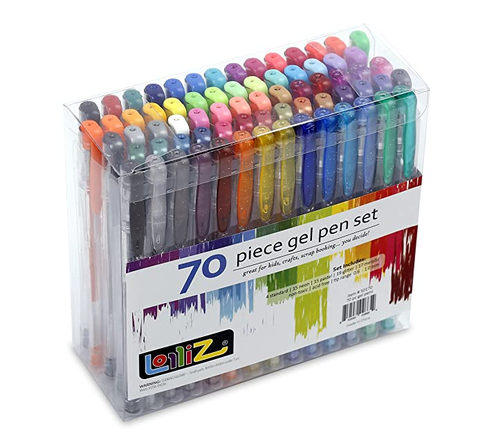 LolliZ® 70 Gel Pens Tray Set, 70 Unique Color Choices