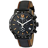 Tissot Men's T0954173605700 Quickster Chronograph Analog-Display Swiss Quartz Black Watch (Color: Black)