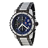 Victorinox Swiss Army Men's 241194 Alpnach Automatic Chrono Watch (Color: Blue dial with silver hands and arabic numerals)