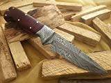 MASSIVE SALE!!!!! Custom Damascus Handmade Hunting Knife. With Leather Sheath. Top Quality.