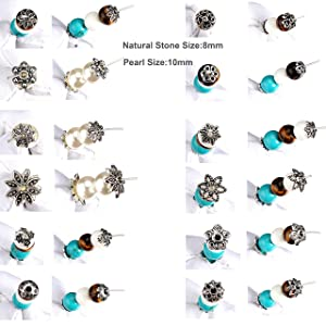 355pcs 12 Styles Tibetan Silver Bead Caps Metal Spacers Beads Jewelry Findings Accessories for DIY Bracelet Necklace Jewelry Making (Color: antique silver)