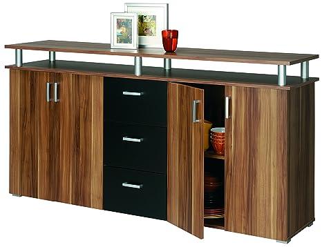 ROLLER Sideboard SWIFT - Merano Nussbaum-schwarz - 178 cm