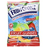 Fruit Choice Gummy Fruit Mix Display with 24 bags of 2 oz each