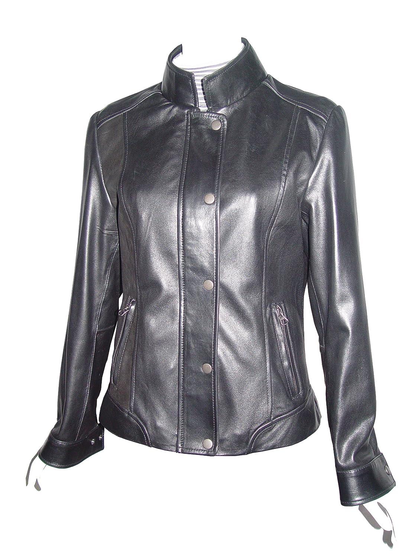 Nettailor WoHerren 4089 Lammskin Leder l?ssig Jacke Laydown Kragen online kaufen