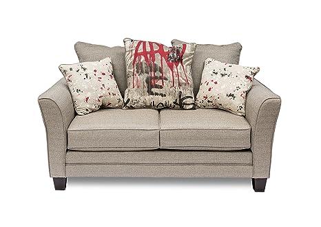 Furniture of America Graffito Love Seat, Beige