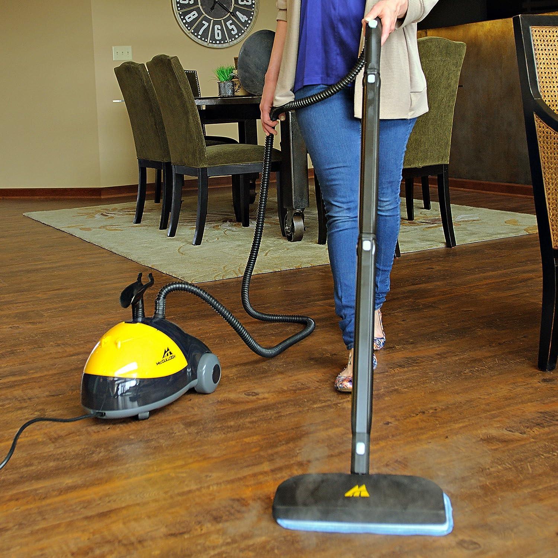 Mcculloch mc 1275 heavy duty steam cleaner new free for Steam clean garage floor