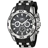 Invicta Men's 'Pro Diver' Quartz Stainless Steel and Silicone Casual Watch, Color:Two Tone (Model: 22311) (Color: black)