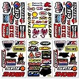 Motorcycles Pro Motocross Dirt Bike Supercross MotoGP ATV Helmet Racing Lot 6 Vinyl Graphic Stickers Decals D6204 Best4Buy