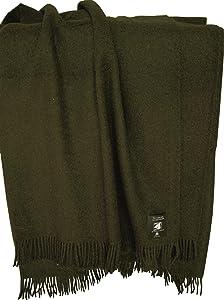 Tabakbraune Wolldecke aus 100% neuseeländischer Schurwolle, ca 200x130cm mit Fransen, 850g    Kundenbewertung und Beschreibung