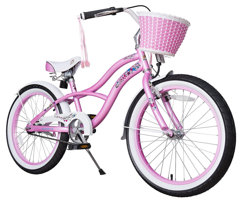 BIKESTAR® Premium Design Kinderfahrrad für coole Kids ab 6 Jahren ★ 20er Deluxe Cruiser Edition ★ Glamour Pink kaufen
