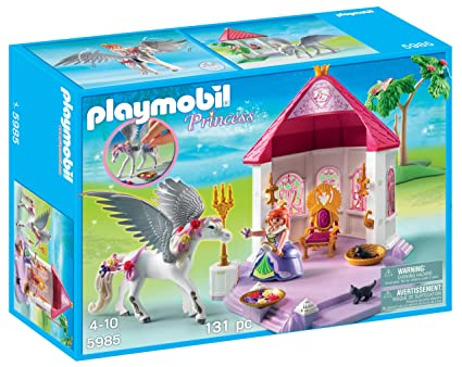 Amazon.com : PLAYMOBIL Princess Room with Pegasus : Toy Interlocking Building Sets : Toys & Games