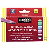 Sargent Art 22-1506 Liquid Metals Medium-Point Metallic Markers, 6 Count